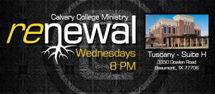 Renewal - College Students - Wednesdays @ 8 PM